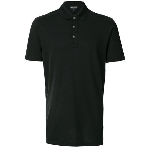 Polos Armani Polo Emporio Negro Clásico OFBSxpw