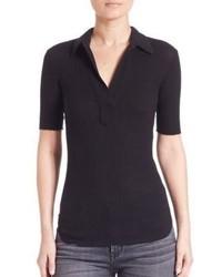 Helmut Lang Cotton Angora Polo Shirt