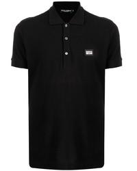 Dolce & Gabbana Cotton Logo Patch Polo Shirt