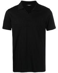 Balmain Embossed Logo Cotton Polo Shirt