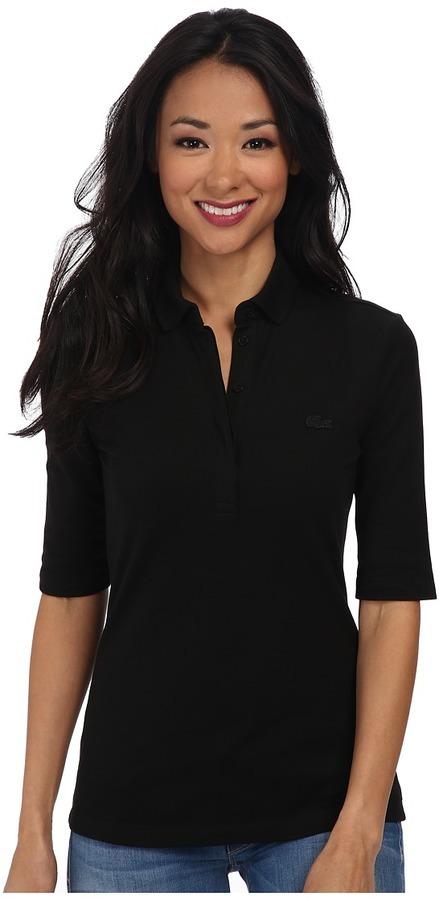 f3e93db961de ... Lacoste Half Sleeve Slim Fit Stretch Pique Polo Shirt Short Sleeve Knit  ...