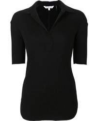 Helmut Lang Ribbed Polo Top