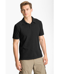 James Perse Trim Fit Sueded Jersey Polo