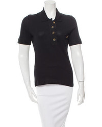 Salvatore Ferragamo Knit Polo Top