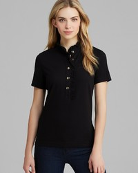 Tory Burch Lidia Ruffled Stretch Cotton Polo