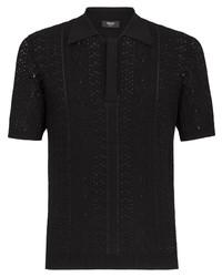 Fendi Macram Short Sleeve Polo Shirt