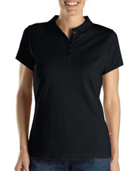 Dickies Misses Short Sleeve Solid Piqu Polo Shirt