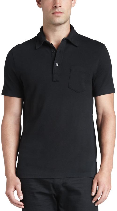 Patch Pocket Polo Black