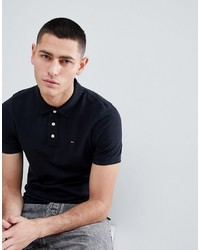 Tommy Jeans Pique Polo Shirt In Black