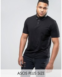 0e62cc939df ... Asos Plus Polo Shirt With Faux Leather Collar