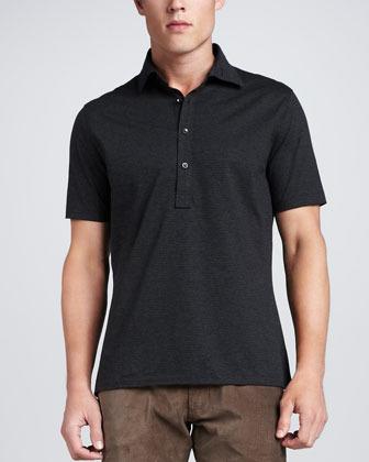 Ralph lauren black label striped jersey polo shirt where for Ralph lauren black label polo shirt