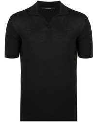 Tagliatore Short Sleeve Knitted Polo Shirt