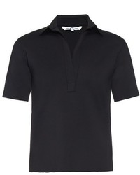 Helmut Lang Short Sleeved Neoprene Polo Shirt