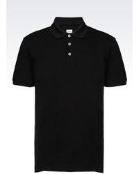 Armani Collezioni Short Sleeved Polo Shirt In Cotton Pique