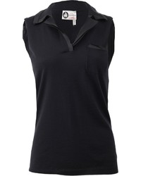 Lanvin Silk Cashmere Polo Top
