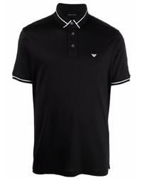 Emporio Armani Stripe Trimmed Polo Shirt
