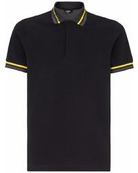 Fendi Striped Trim Polo Shirt