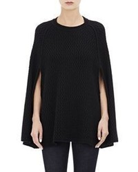 Barneys New York Honeycomb Stitched Cashmere Poncho