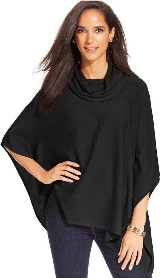 Charter Club Petite Cowlneck Poncho Sweater | Where to buy & how ...