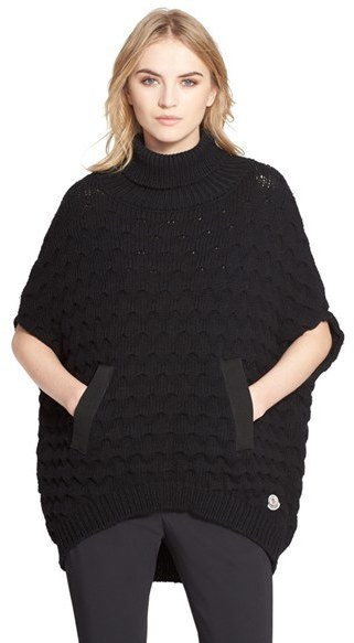 moncler turtleneck poncho