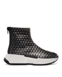MM6 MAISON MARGIELA Black Bubble Wrap Sneakers