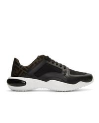 Fendi Black Mesh Forever Sneakers