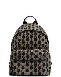 Balmain Beige And Black B Back Backpack
