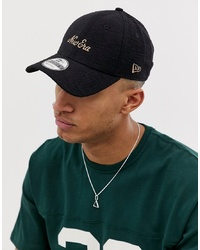 New Era 9forty Logo Adjustable Cap In Navy