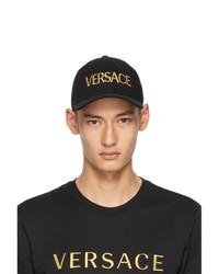 Versace Black And Gold Logo Cap