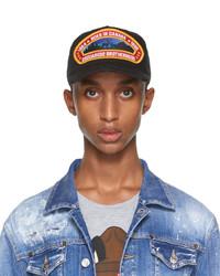 DSQUARED2 Black Born In Canada Patch Cap