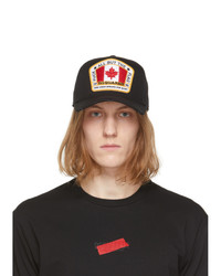 DSQUARED2 Black Canada Patch Baseball Cap