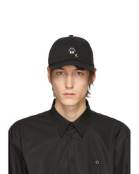 Raf Simons Black Embroidered Cap