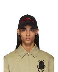 Alexander McQueen Black Logo Baseball Cap