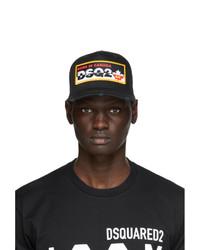 DSQUARED2 Black Logo Patch Baseball Cap