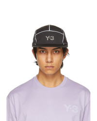 Y-3 Black Ref Logo 5 Panel Cap