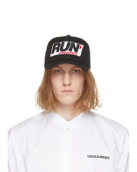 DSQUARED2 Black Run Cap