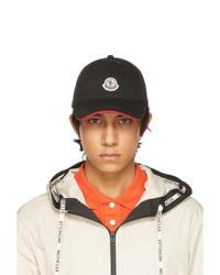 Moncler Black Tricolor Baseball Cap