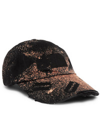 99% Is Distressed Spray Painted Cotton Twill Baseball Cap