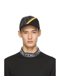 Fendi Grey And Black Wool Forever Cap