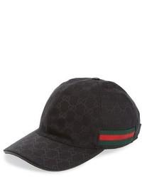 4620d31f0db5 Men s Black Baseball Caps by Gucci
