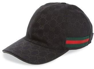 8ceb8a139b6c1 ... Gucci Logo Print Baseball Cap ...