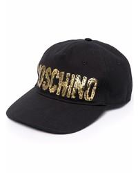 Moschino Painted Logo Print Cap