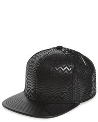 Pat print snapback cap black medium 784021