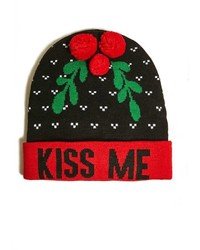 21men 21 Kiss Me Graphic Beanie