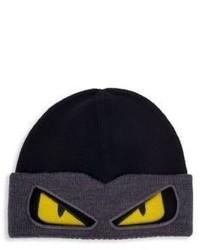 Fendi Bag Bugs Convertible Wool Ski Hat