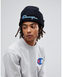 Champion Beanie With Script Logo In Black