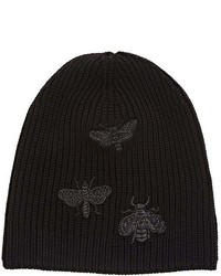 Valentino Garavani Bee Embroidered Wool Beanie