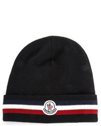 Moncler Bi Colour Trim Carry Over Wool Beanie