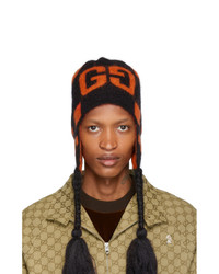 Gucci Black And Orange Mohair Ski Beanie
