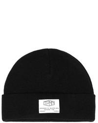 Topman Black Lettering Beanie Hat